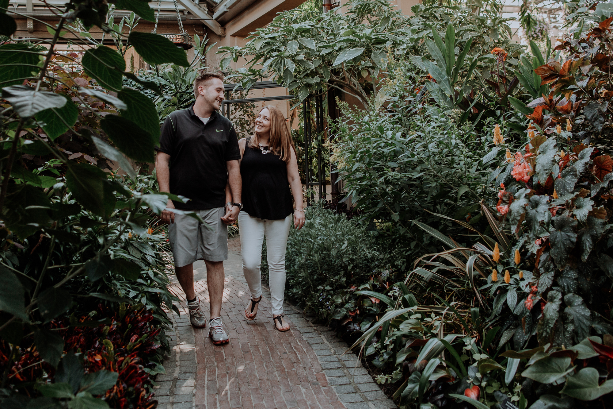 longwood-gardens-engagement-session-photography-walking