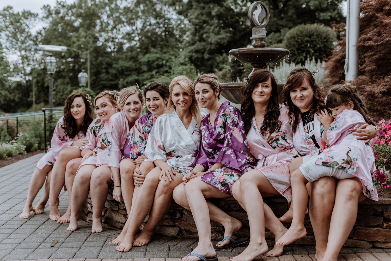 bridesmaids-portrait-getting-ready-silver-creek-country-club-fountain