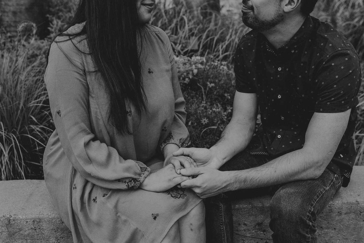 clinton-downtown-engagement-candid-photo