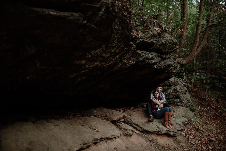moody-engagement-photography-forbidden-drive-philadelphia-pa