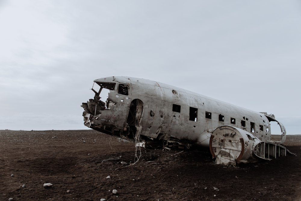 Should we track our mileage that it took to  walk to this plane crash site in Iceland ? We almost feel we deserve something for it! :)