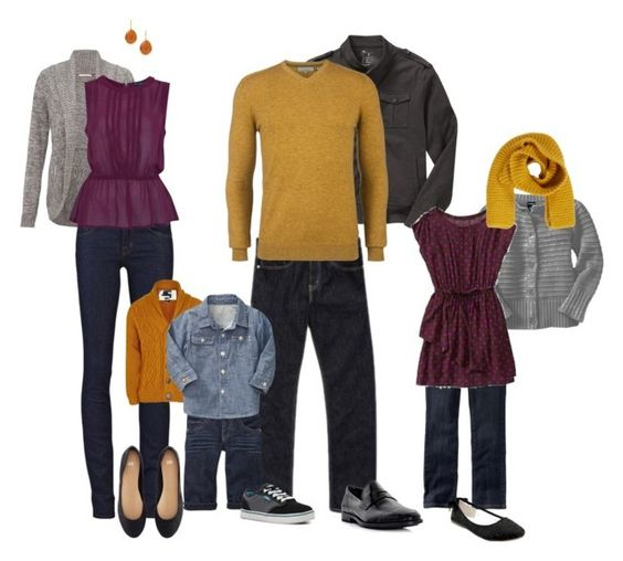 Want to showcase the fun and spunky side of your family? - Choose coordinating colors (but not matchy, matchy) with bold accent colors, such as hues of gray with yellow or bright accents. Adding fun accessories like scarves, headbands, earings, bowties, etc. can add a modern twist and sassy flair to your images.