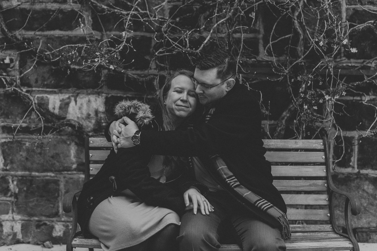local-lehigh-valley-engagement-photographer-winter-black-and-white