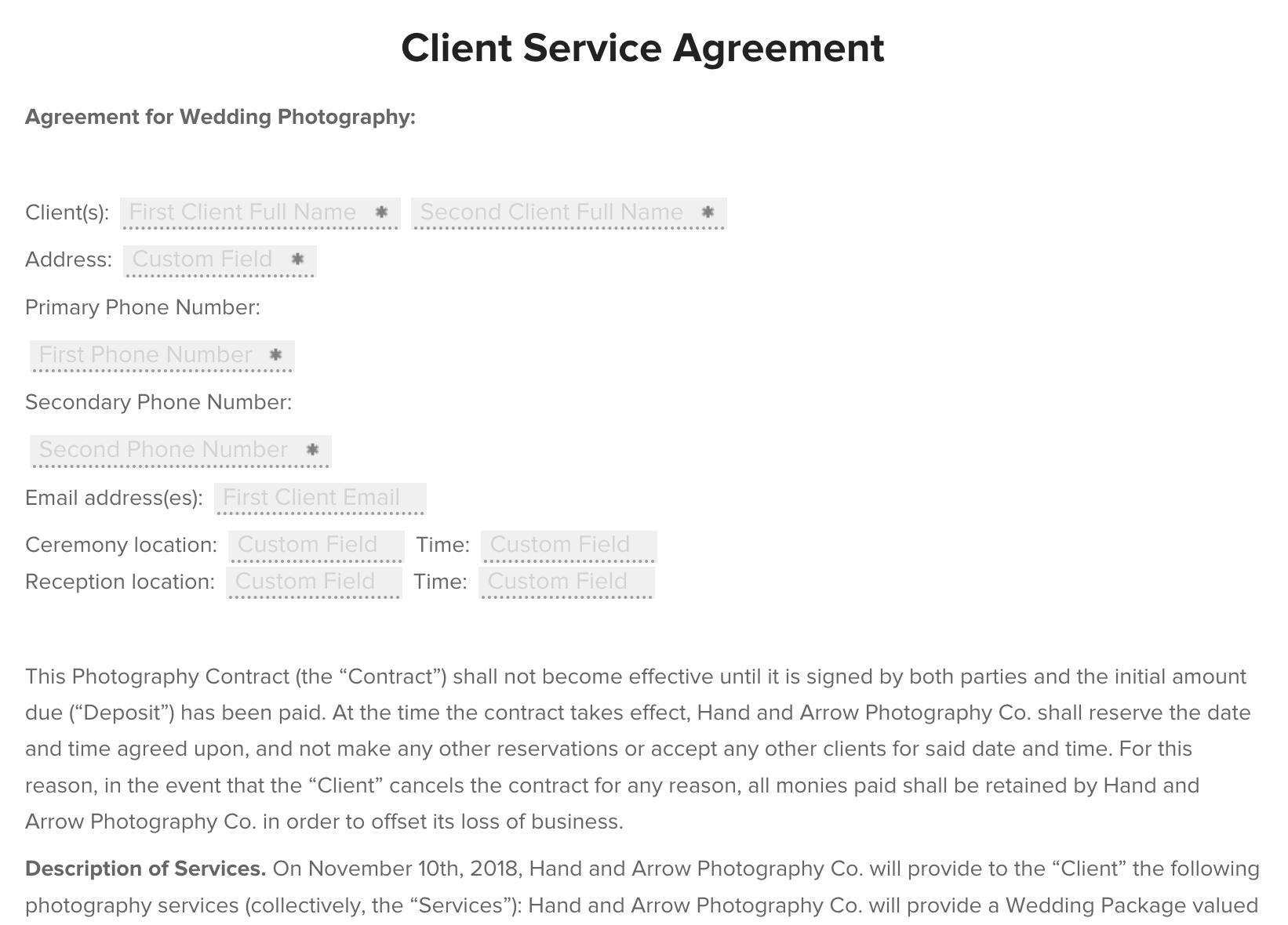 honeybook-contract-templates