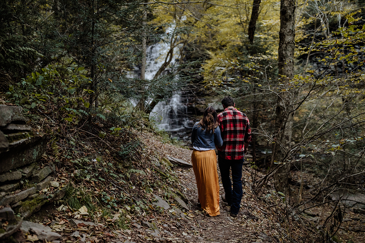 adventurous-waterfall-engagement-session-pa