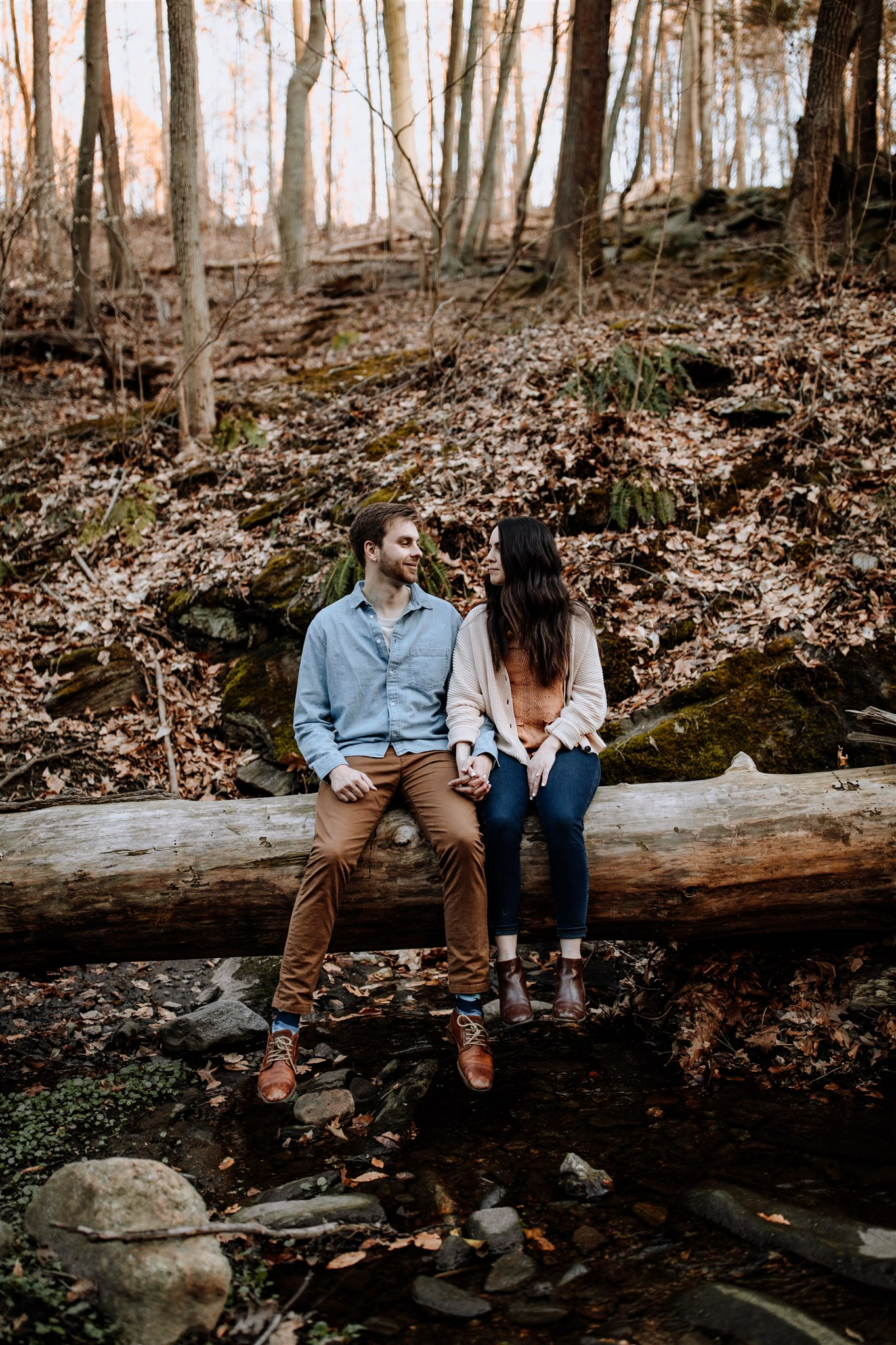 philly-pa-woodsy-engagement-session