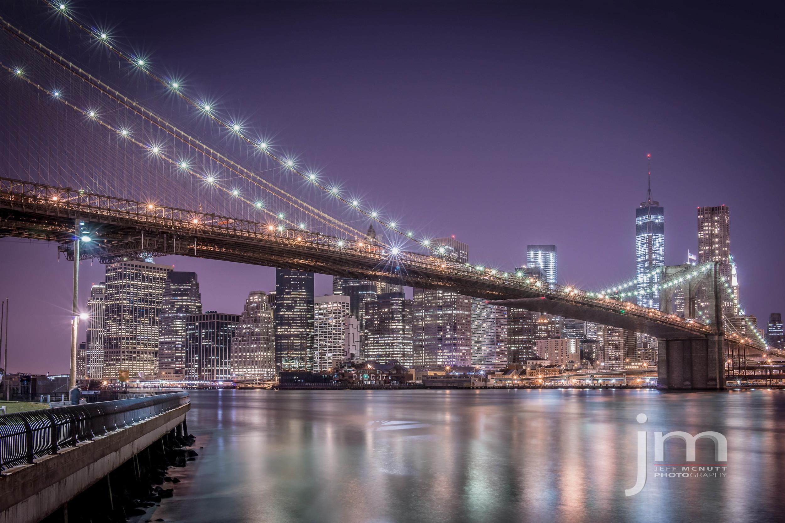New York City Skyline, Brooklyn Bridge