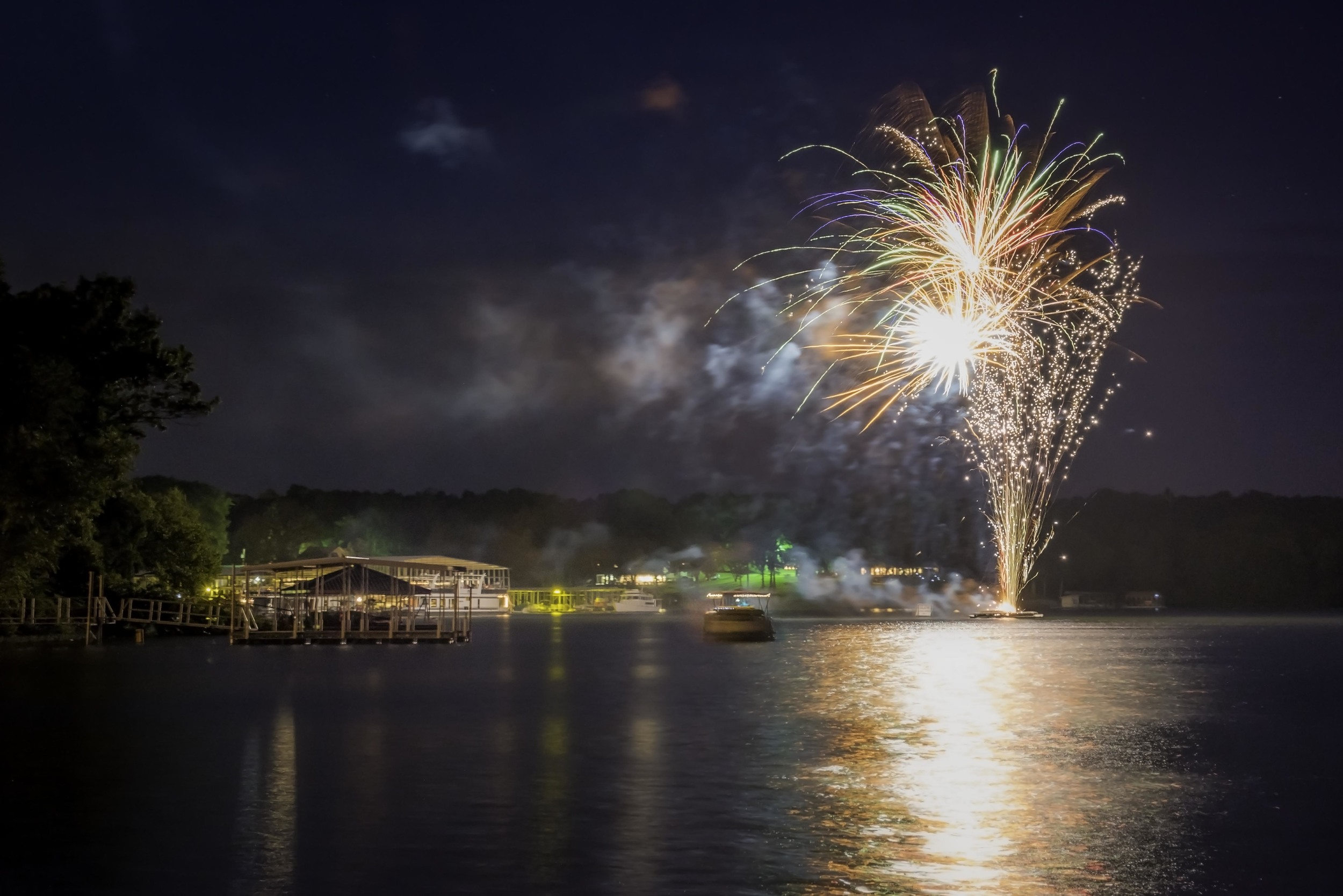 Cypress Bay on Kentucky Lake, July 4, 2016