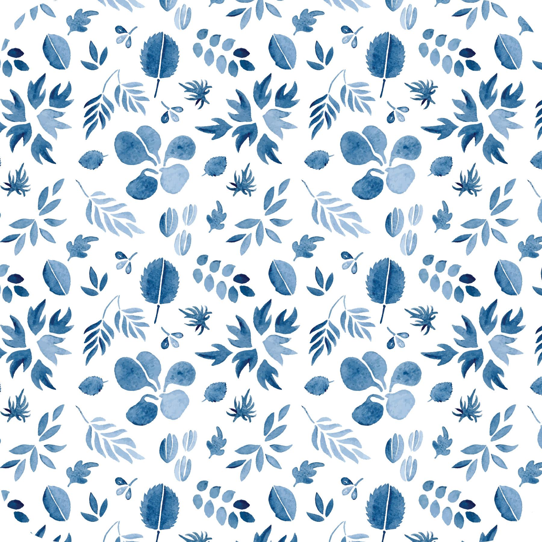 Indigo Leaf Pattern