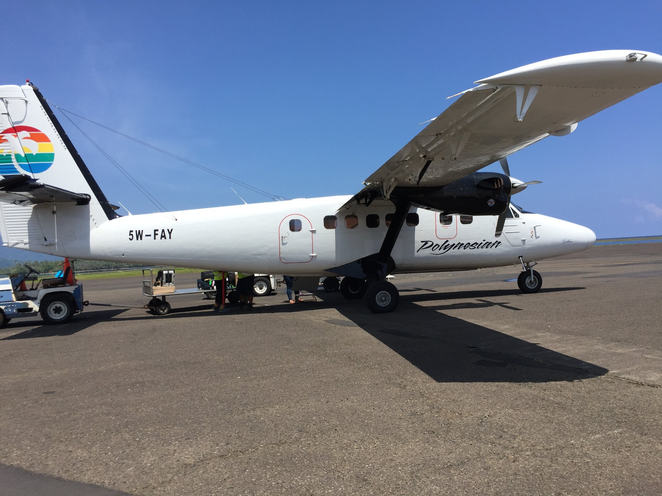 Our wonderful 17-seater flight from Samoa to Pago Pago