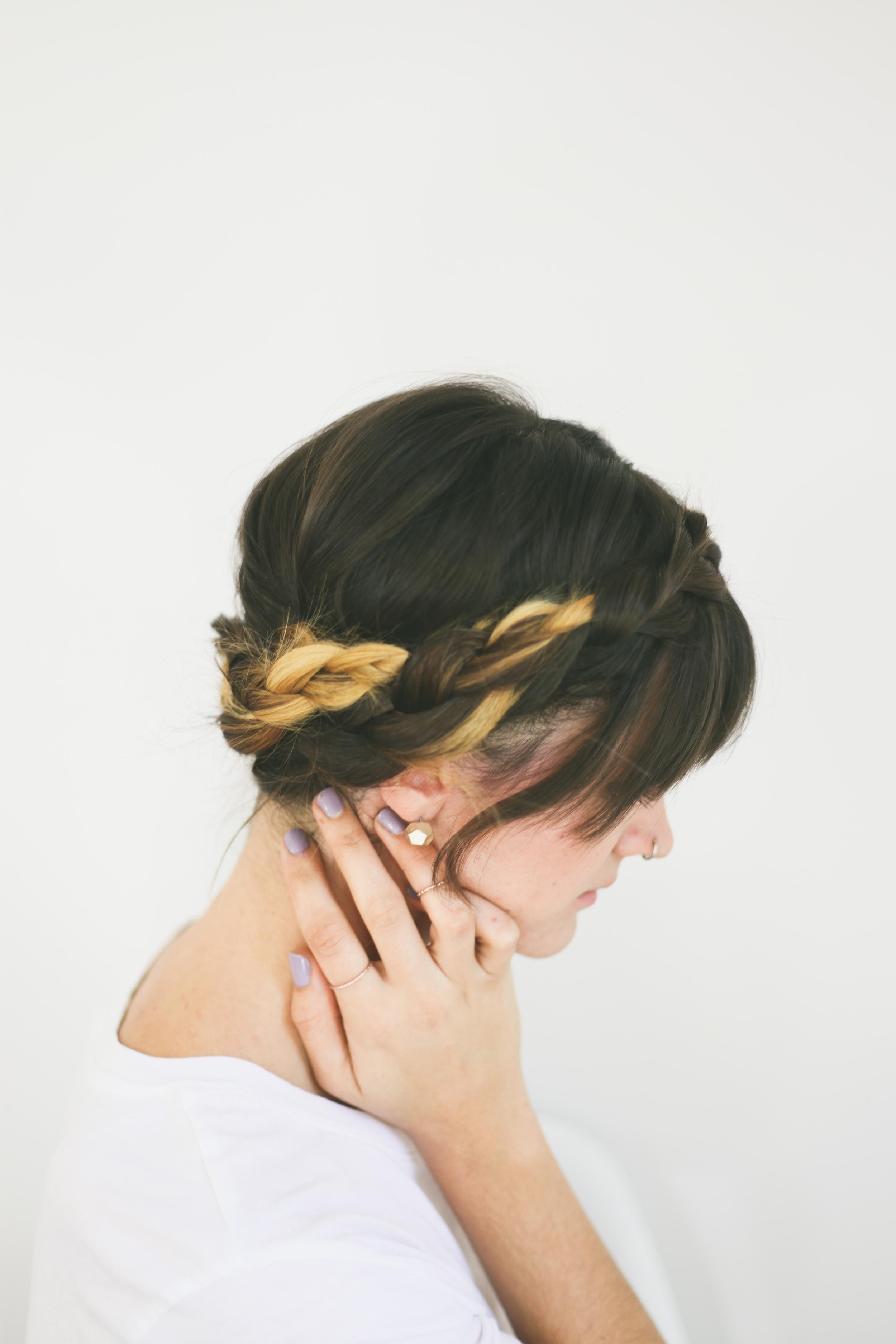 Short Hair Braided Crown