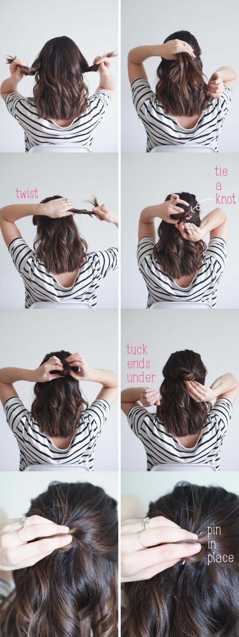 Hair Tutorial Half Up Knot In 4 Easy Steps Treasures