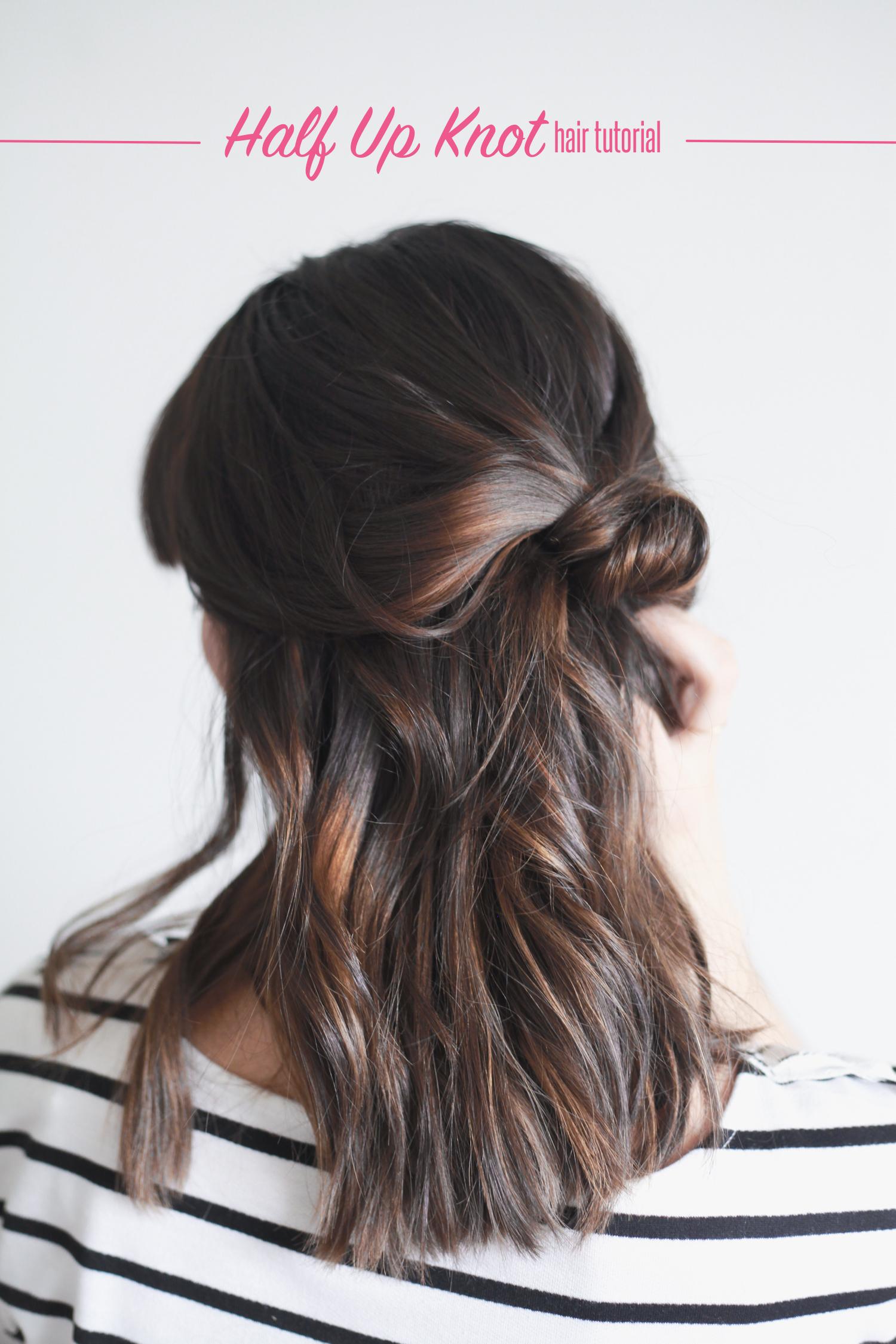 hair tutorial hfalf up knot.jpeg