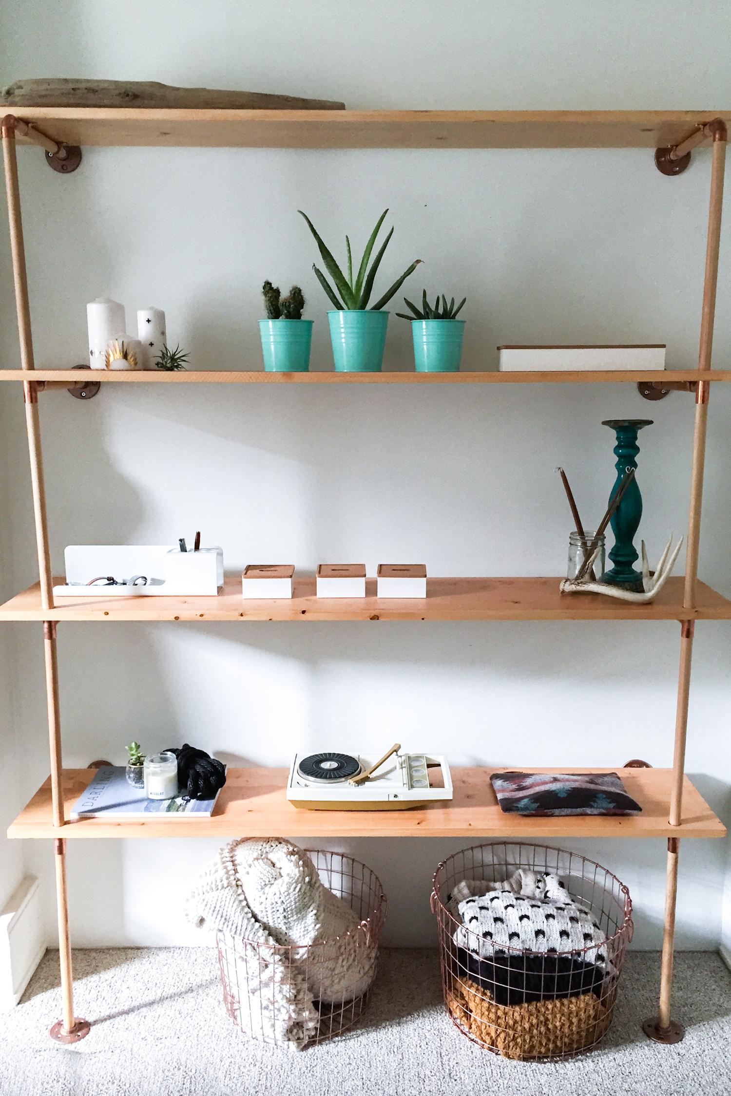 cheap for discount 6ad13 80557 DIY // Copper & Wood Shelf — Treasures & Travels