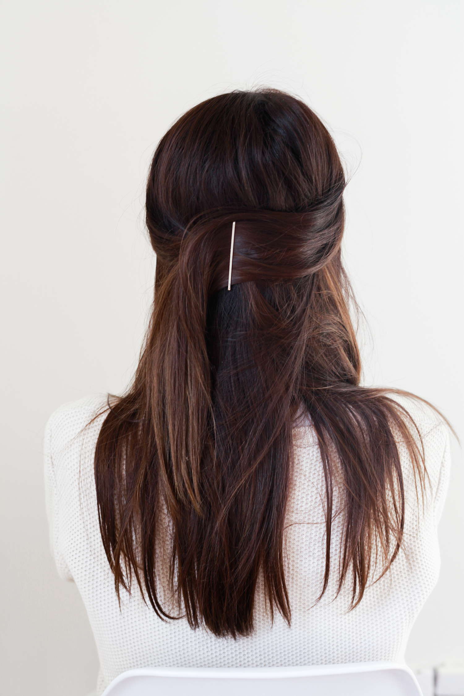Half Up Bobby Pin // Hair Tutorial — Treasures & Travels