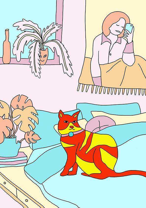 THE PET   editorial illustration