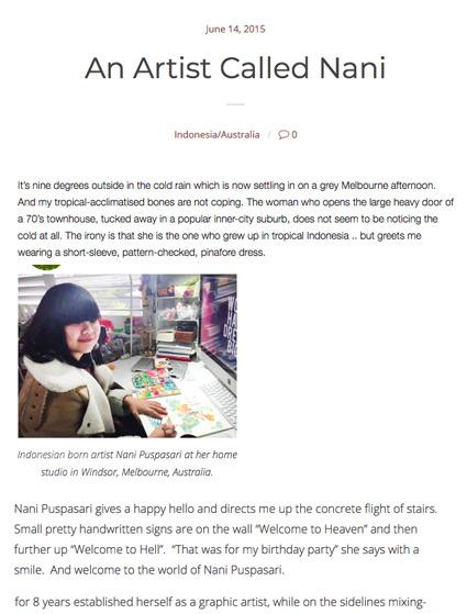 Online  -  Interview by Helen Brown