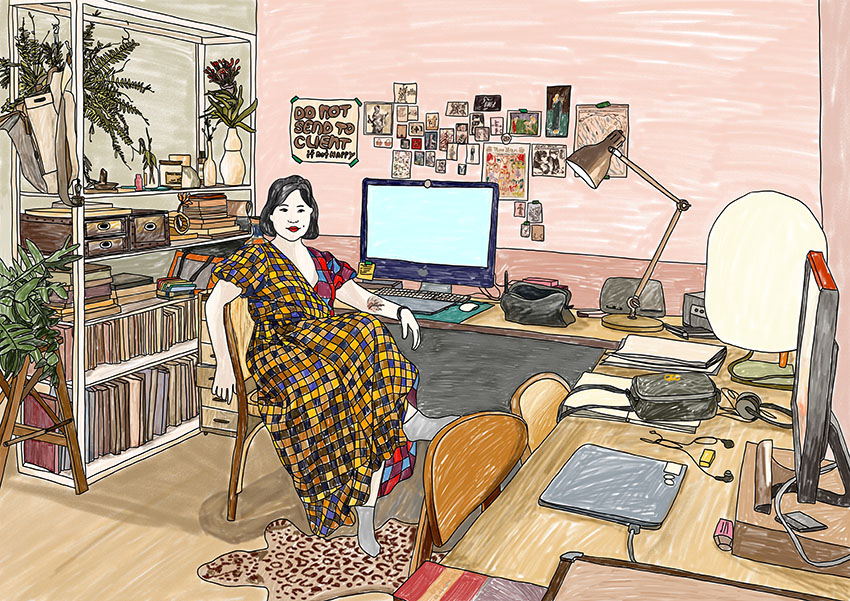 WORK-SPACE   editorial, illustration