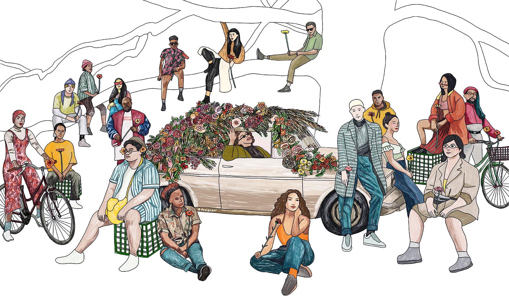 MUSICIAN  *new  editorial, illustration