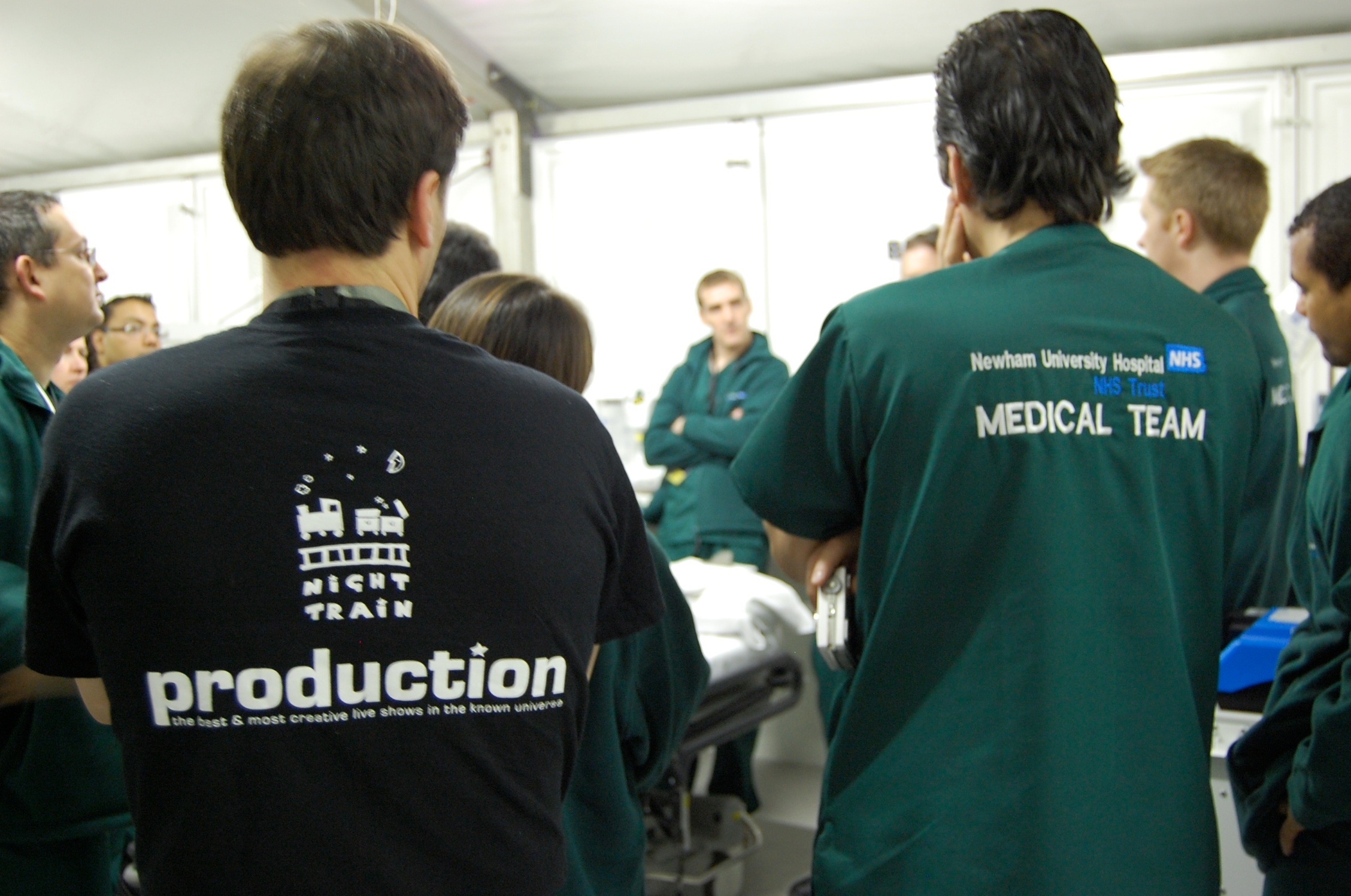 Crew and medical training for the G20 in Excel, London, April 2009
