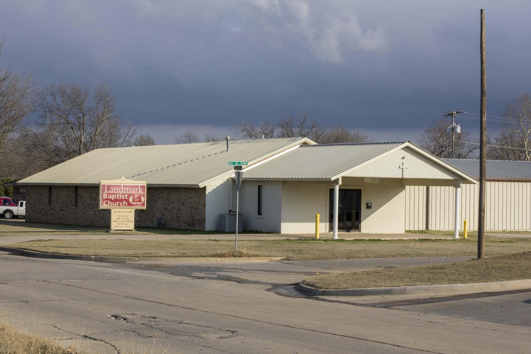 Landmark Baptist Church </br> 620 Moore St SW