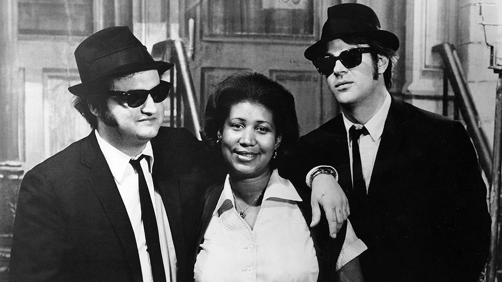 "'The Blues Brothers' (1980) Franklin co-starred with John Belushi and Dan Aykroyd in the 1980 classic film ""The Blues Brothers.""  UNIVERSAL/KOBAL/REX/SHUTTERSTOCK"