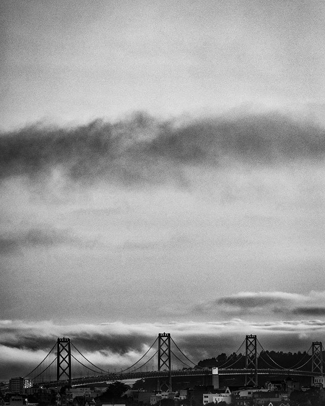 """Rolling Fog in San Francisco.  This 8""""x12"""" ready to hang print is for sale. It can be yours for only $60 + shipping. Message me if interested. #sanfrancisco #fog #cityscape #cityview #blackandwhite #bridge #raymondvestalphotography #california"""