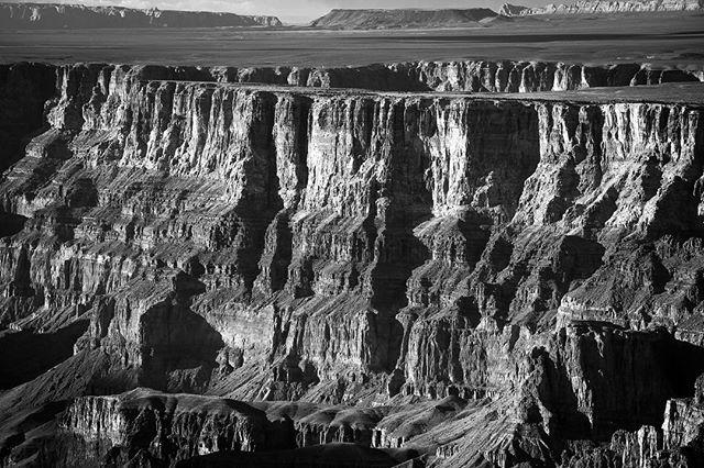 "The Dark Shadows of the Grand Canyon.  This 12"" x 18"" luster print is for sale.  Message me if interested. Everyone needs a Grand Canyon print hanging on their wall. #nikonusa #vanguardworld #sigmaphoto #landscape #arizona #grandcanyon #blackandwhite #texture #raymondvestalphotography"