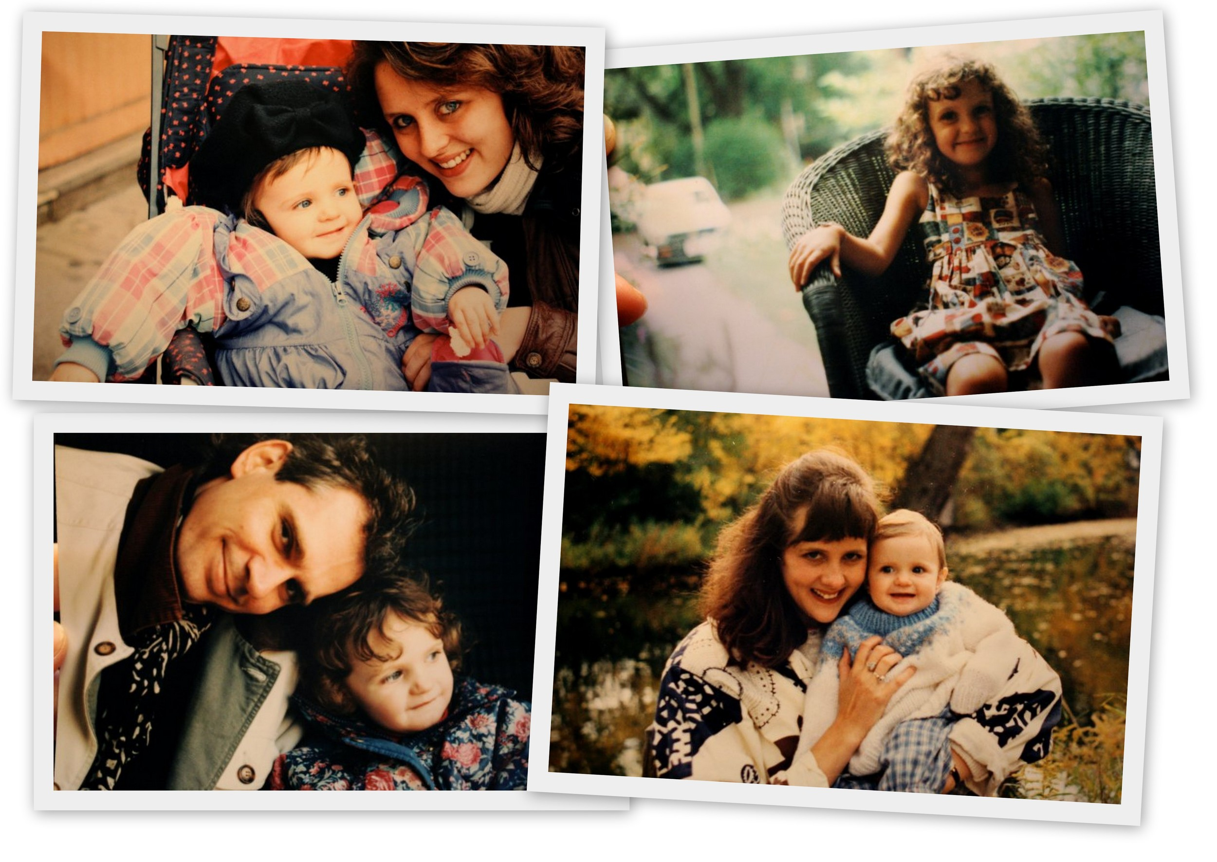 Family photos from the Hallam-Martin family from the 1990s