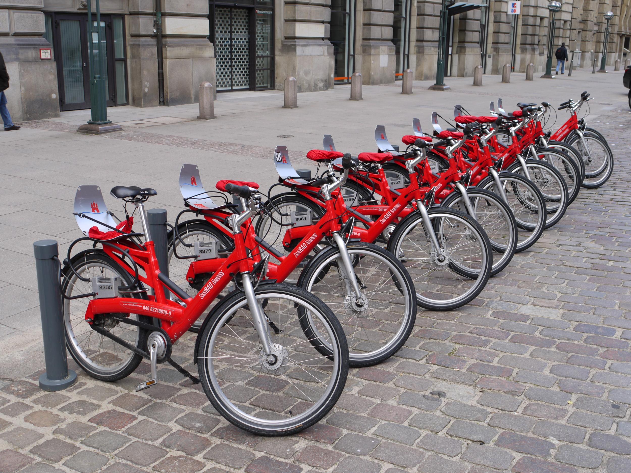 StadtRAD bikes | Photo courtesy of Kirsten Hassall