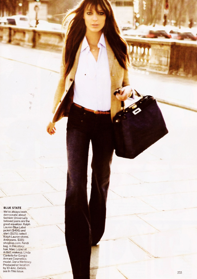 Daria Werbowy by Mario Testino for Vogue US