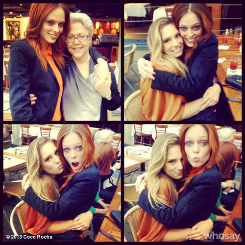 Coco Rocha with Stephanie Lalanneand MJ, founder of Specs Models (From Oh So Coco on  tumblr )