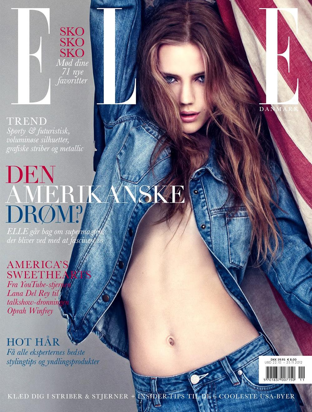 Esther Heesch covers Danish Vogue. Heesch is 16-years-old.