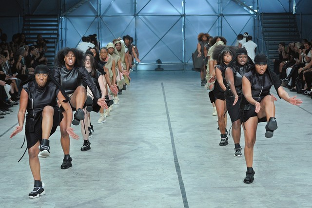 American steppers model Rick Owens' latest collection - and make headlines | WWD.com