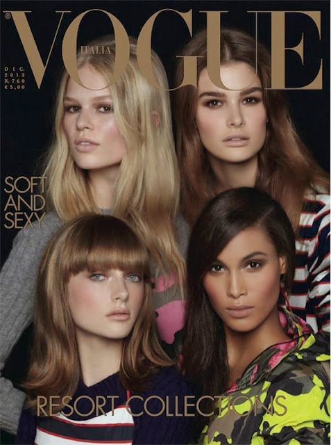 Anna Ewers, Ophélie Guillermand, Cindy Bruna & Gracie Van Gastel for Vogue Italia (December 2014) by Steven Meisel