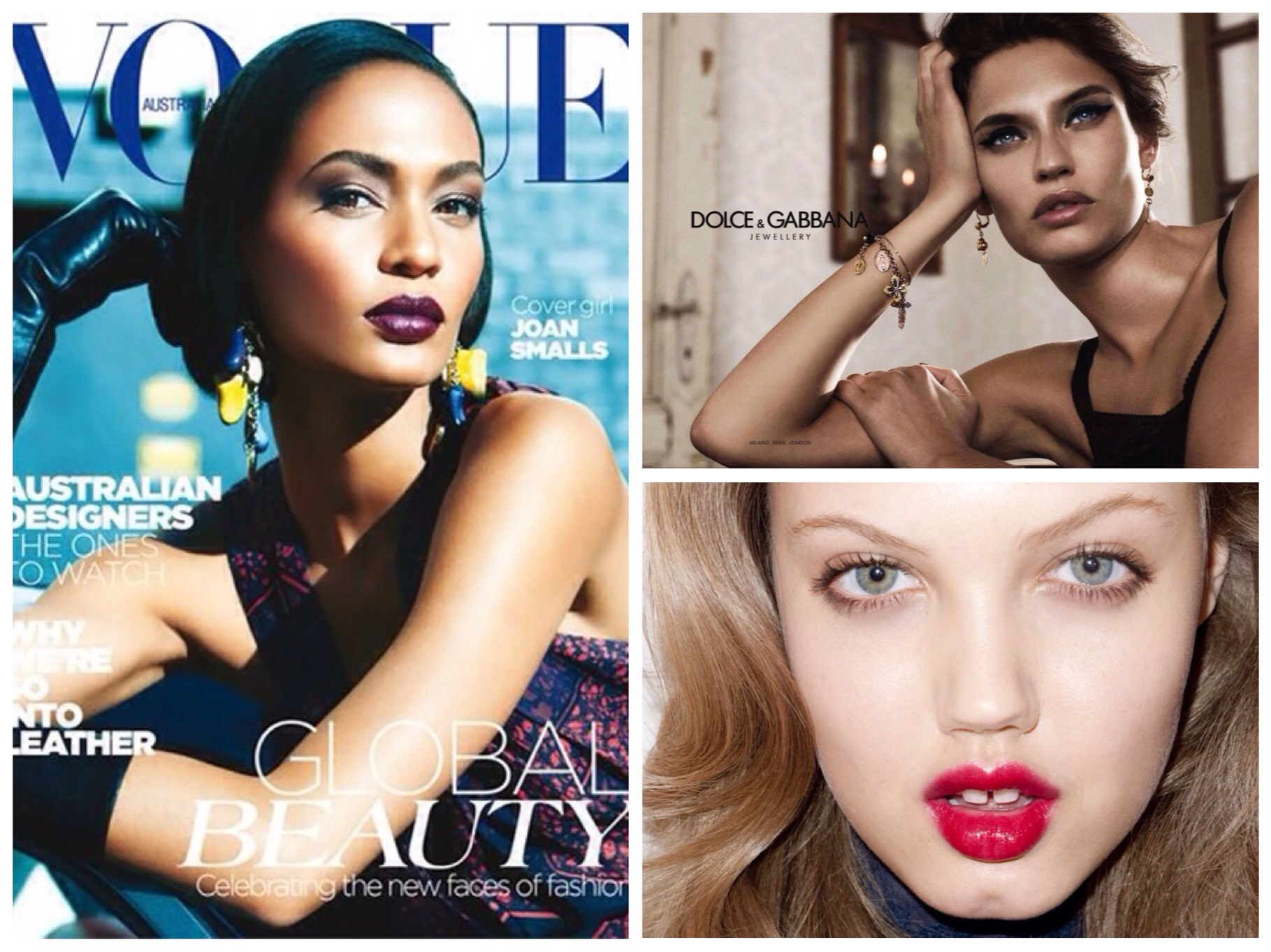 From Left to Right: Joan Smalls, Bianca Balti, Lindsey Wixson