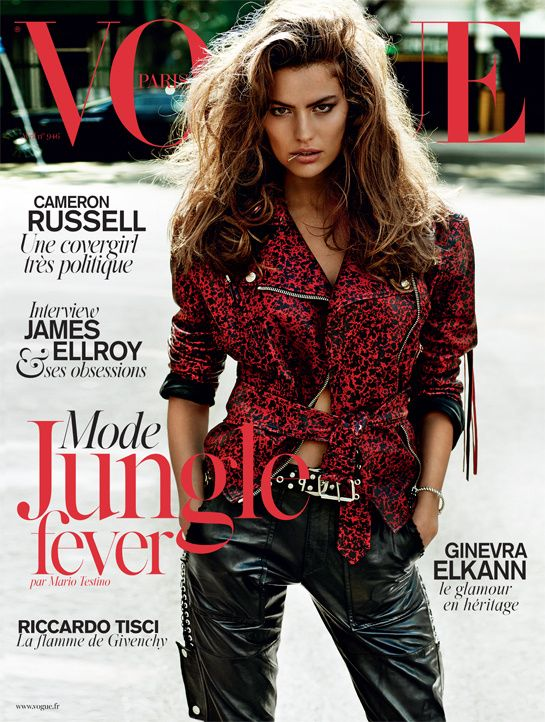 Cameron Russell's April 2014 cover of French Vogue shot by Mario Testino |  The Lions
