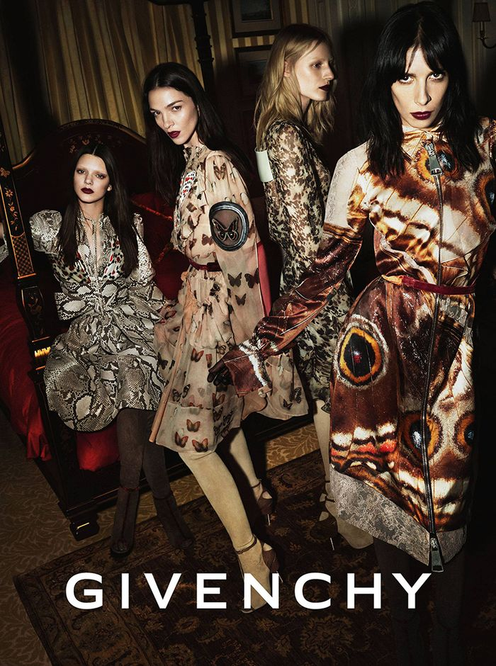 Kendall Jenner, Mariacarla Boscono, Julia Nobis, and Jamie Bochert for Givenchy FW 2014 campaign shot by Mert Alas and Marcus Piggott |  FashionCopious