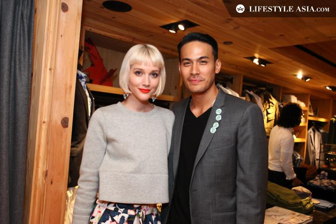 Eve and  Francisco Ricafort at a JCrew party, at which Eve was the DJ | Lifestyle Asia