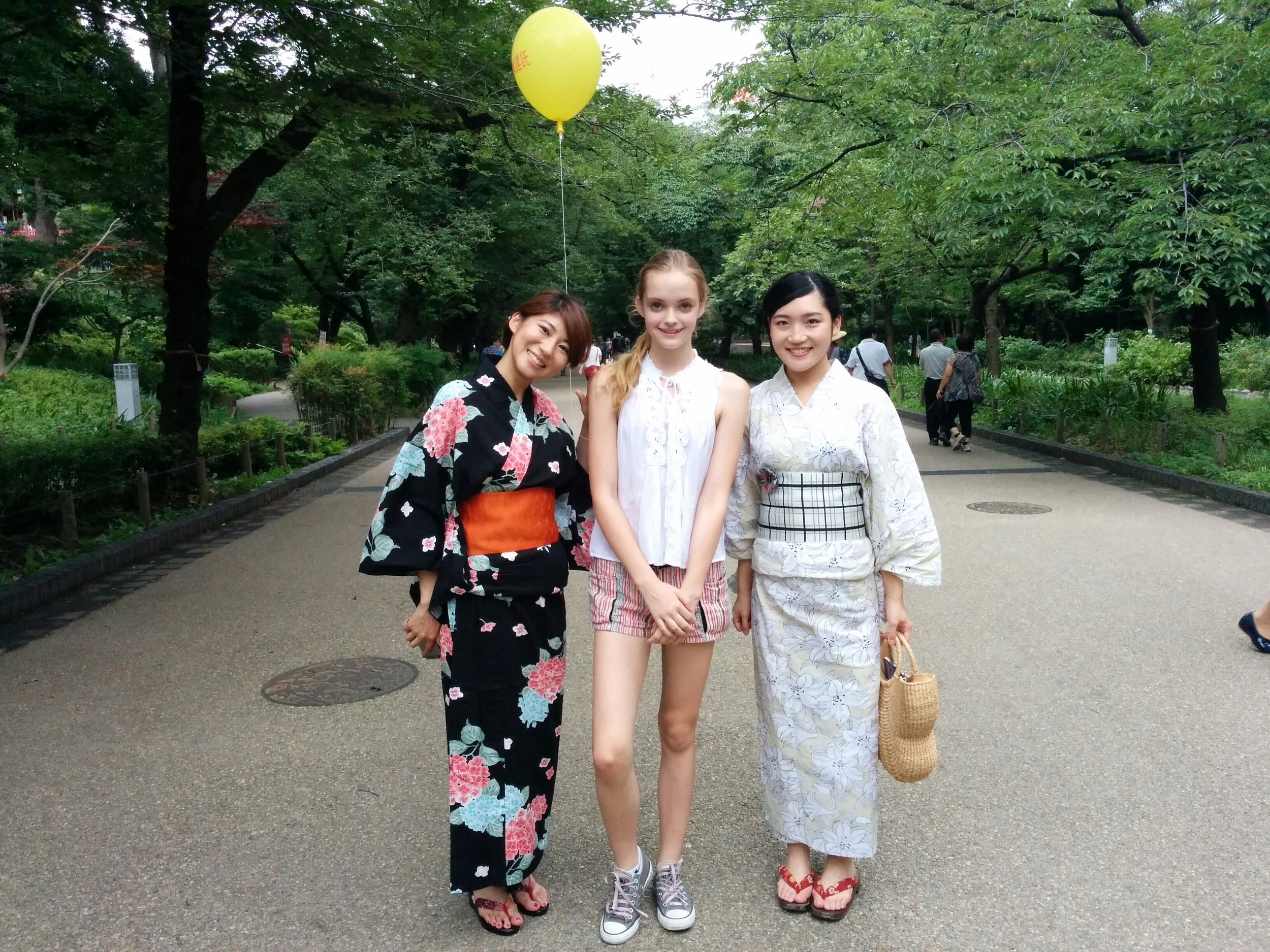 Claire with some new friends in Yoyogi Park, Tokyo | Courtesy of Claire Dawe-McCord