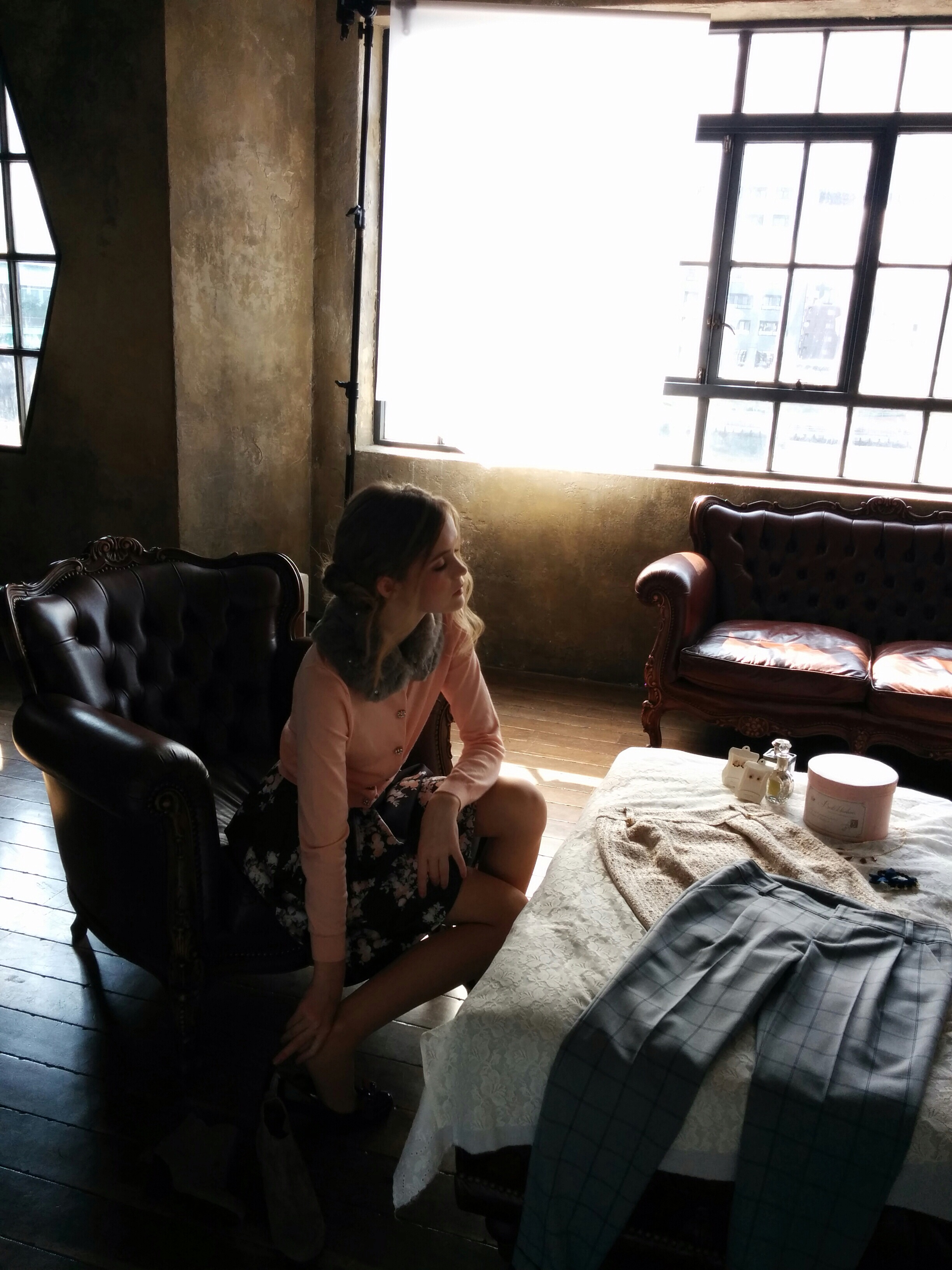 Claire on set in Tokyo | Courtesy of Claire Dawe-McCord