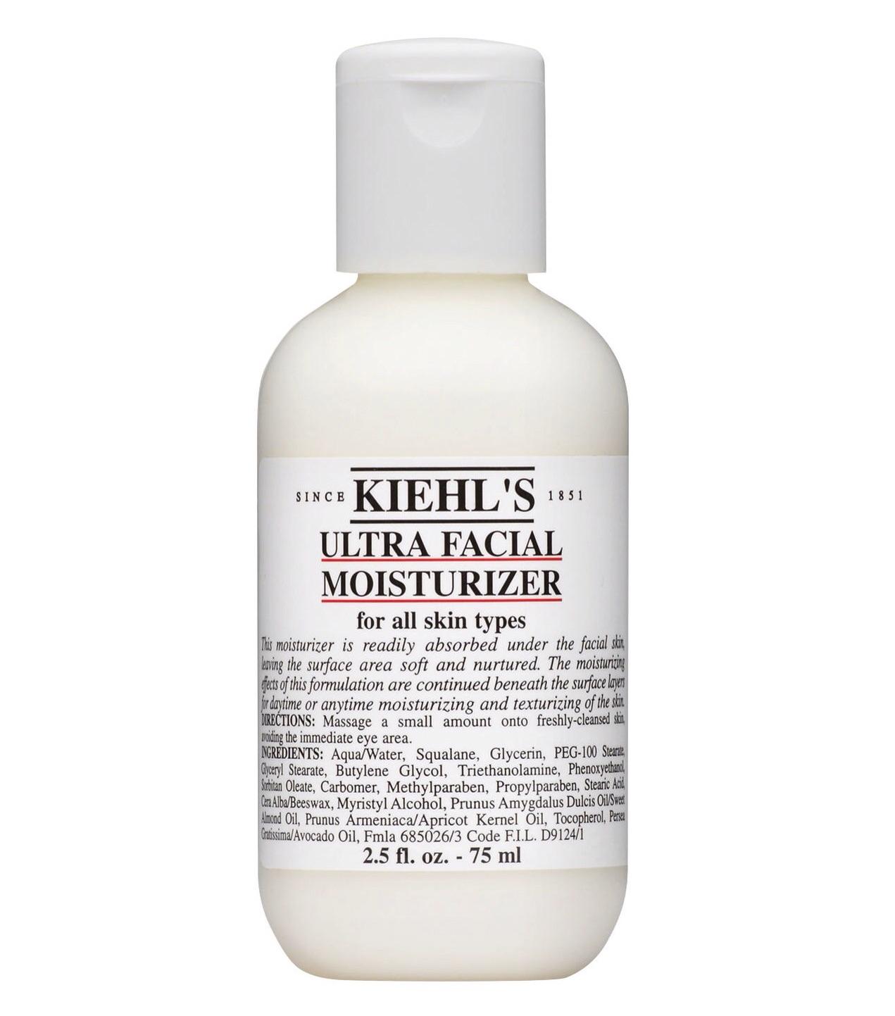 KiehlsUltra FacialMoisturizer, $22 for 75ml   Kiehls