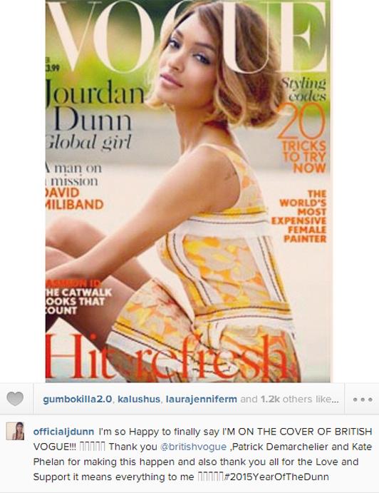 Dunn announced the cover on Instagram @officialjdunn |  Telegraph.co.uk