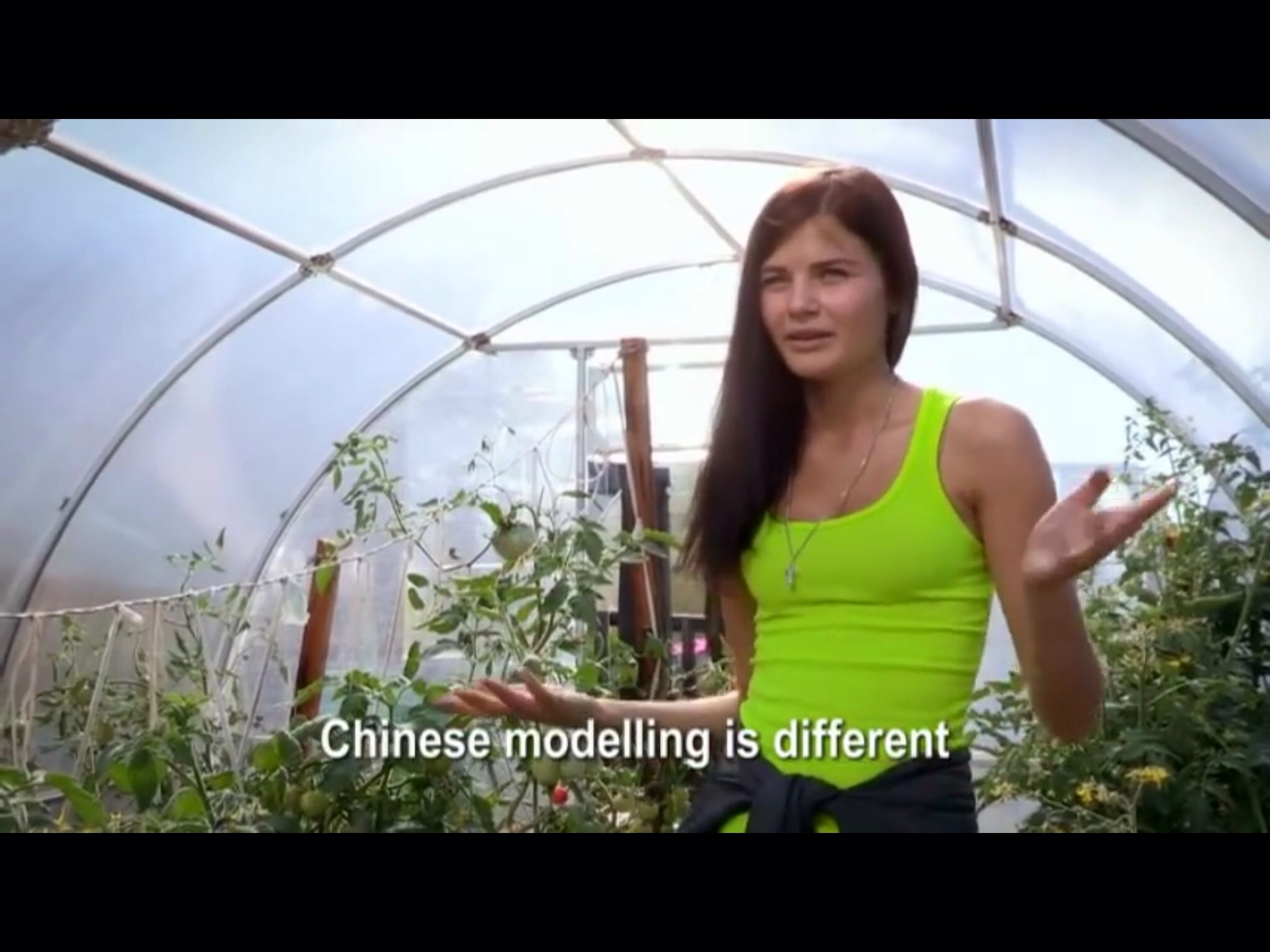 Leda speaks about modelling in China | Still from Siberian Supermodels