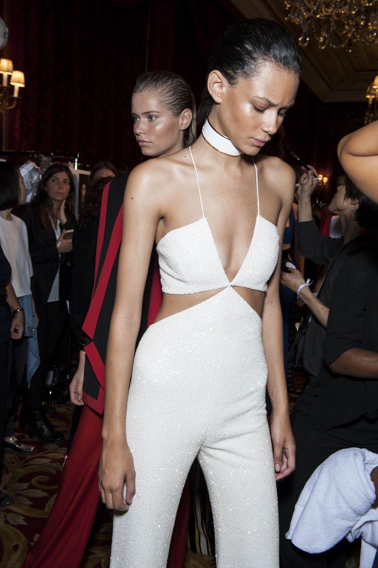 Binx backstage at the Balmain show at Paris Fashion WeekSpring/Summer 2015 | W Magazine