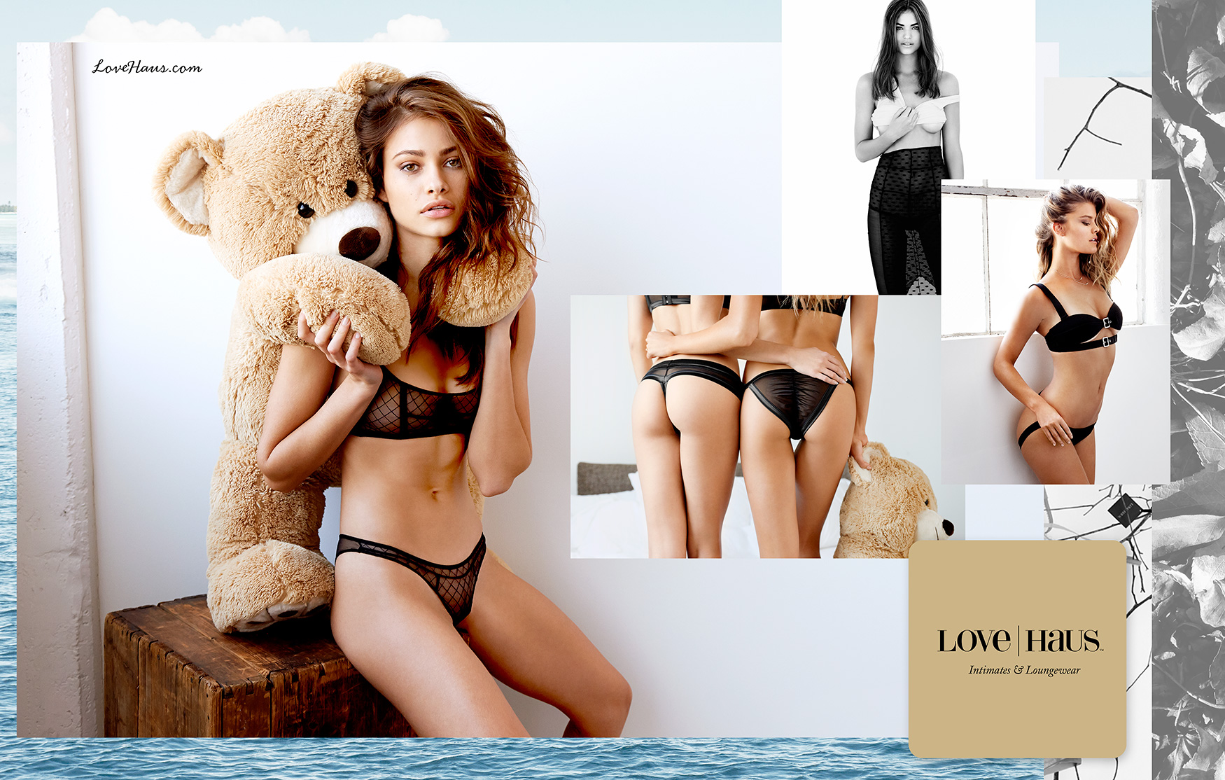 From left to right: Yara K (Wilhelmina), Robin Marjolein (IMG), and Nina Agdal (Elite) for Love Haus