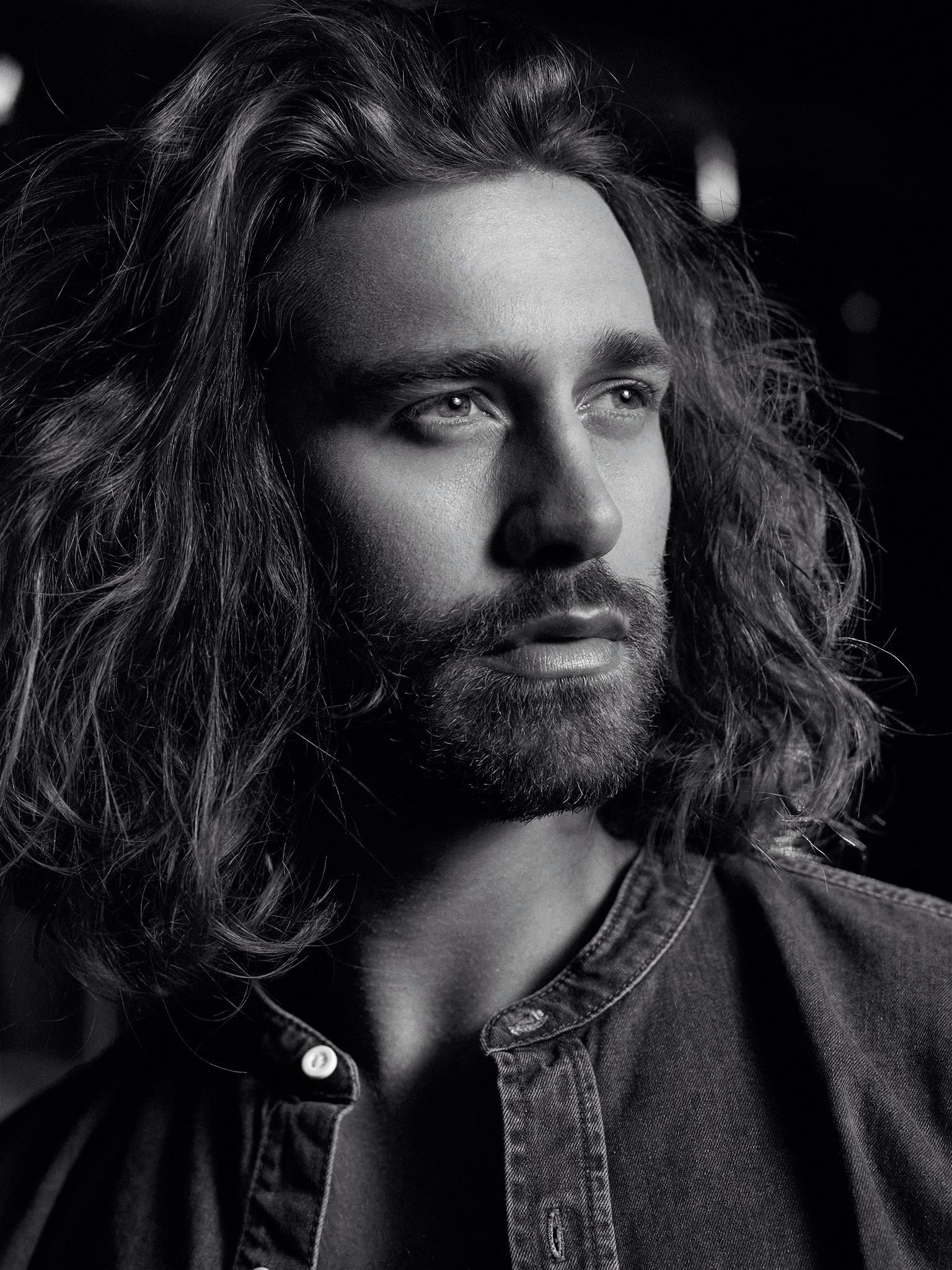 Josh McAree (Lang Models) shot by Michael Woloszynowicz, make upby Melanie Rose |  Michael Woloszynowicz