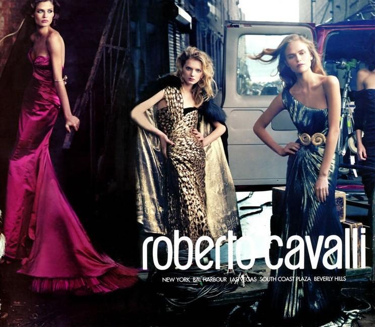 Bianca Balti, Lily Donaldson, Natasha Poly for Roberto Cavalli F/W2005 campaign shot by Annie Leibovitz |  Source