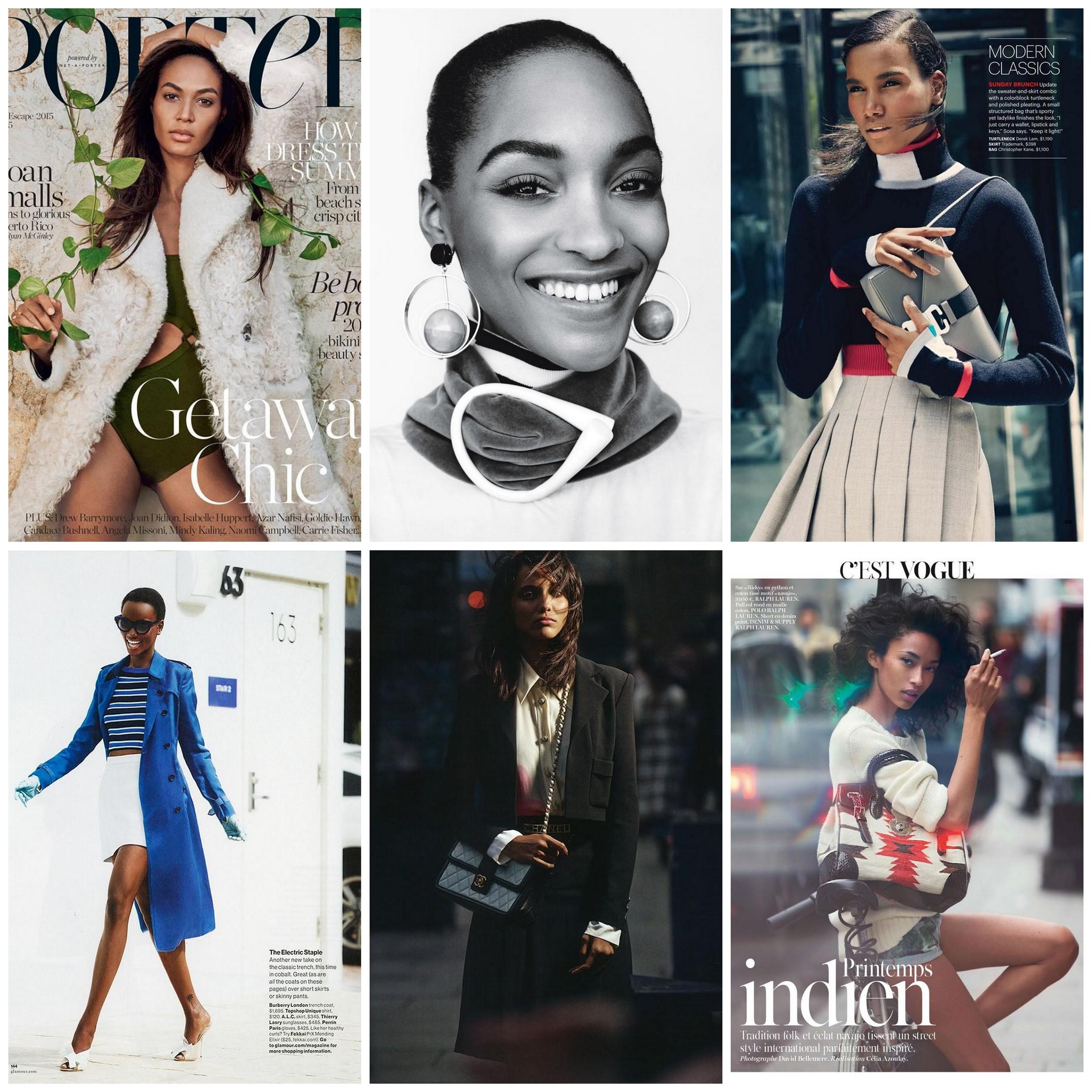 "Joan Smalls, Jourdan Dunn, Arlenis Sosa, Anais Mali, Cora Emmanuel, and Harieth Paul are the six black women of 81 women on the  Models.com  ""Money Girls"" list.For image details, see below."
