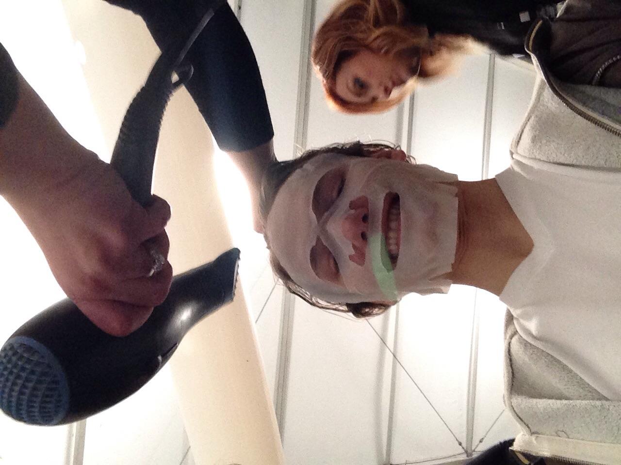 Ryan backstage during fashion week | Want Management